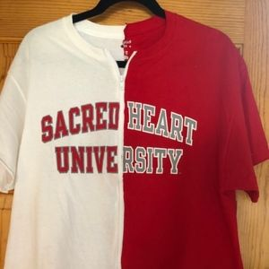 Sacred Heart University Custom Zip Tee Tailgate L